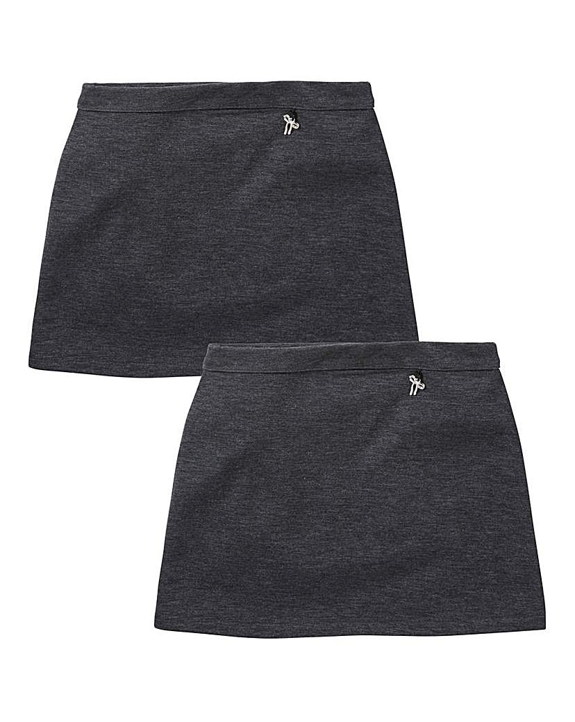Girls Pack of Two Ponti Skirts Generous