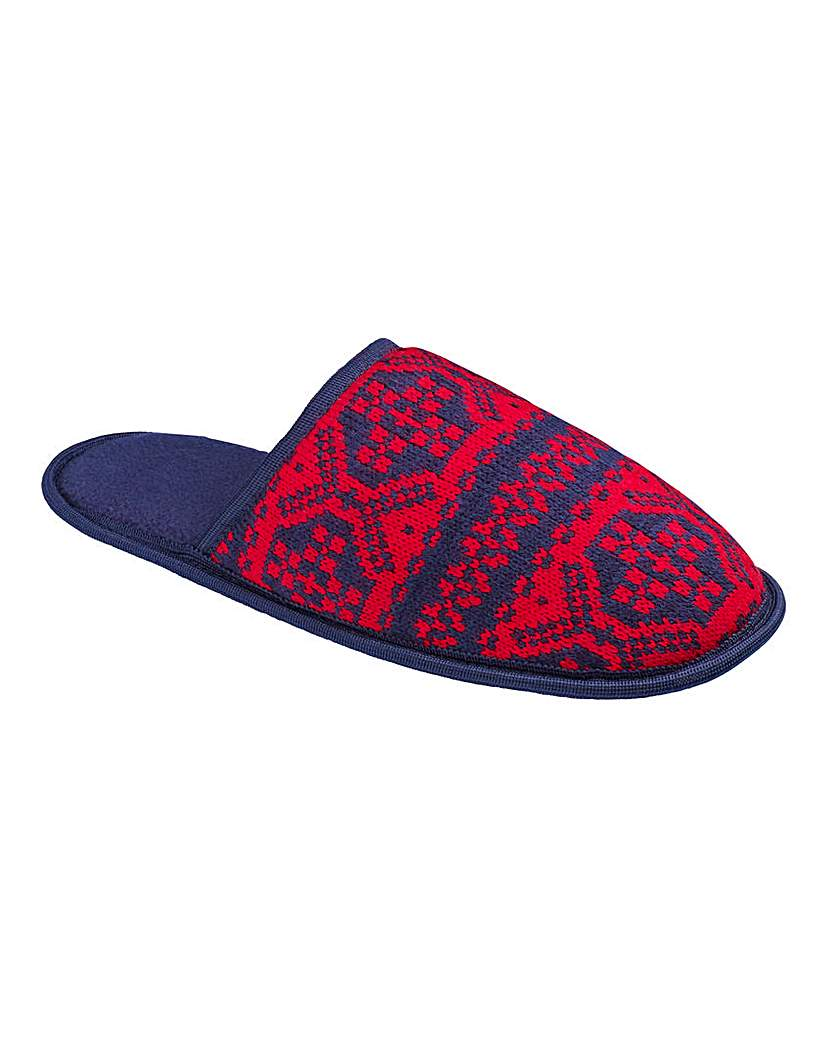 Southbay Fairisle Mule Slippers
