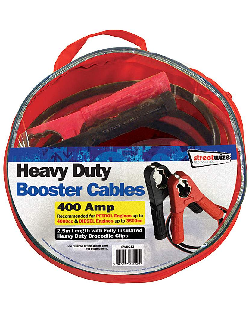 2.5m Heavy Duty Booster Cables