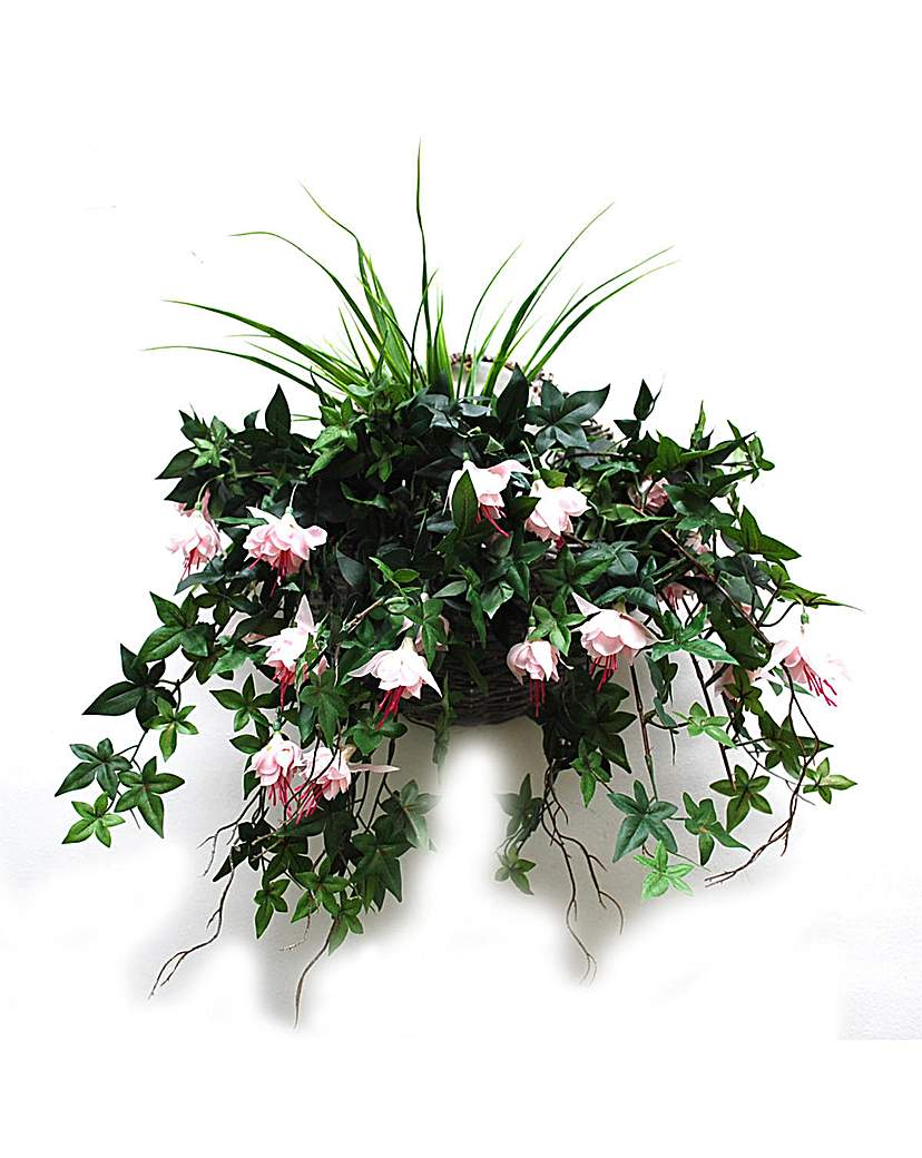 Image of Artificial Plant Fuchsia Wall Basket