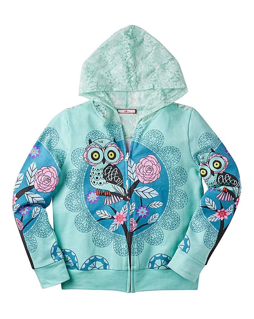 Joe browns Girls Owl Print Hoodie