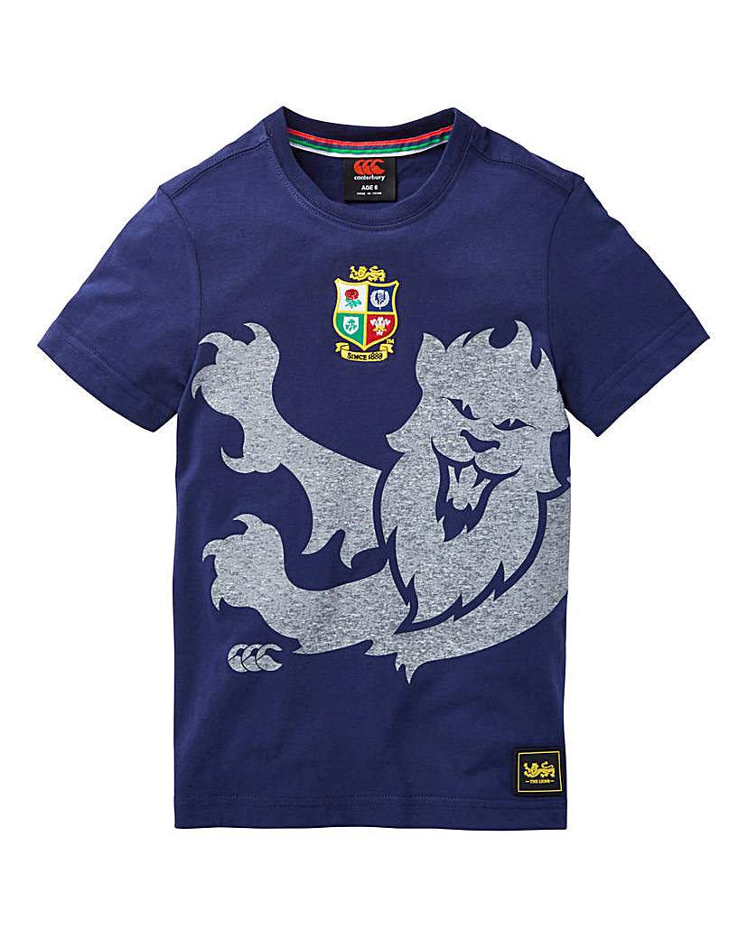 Image of Canterbury Boys Marl Print Lion Tee