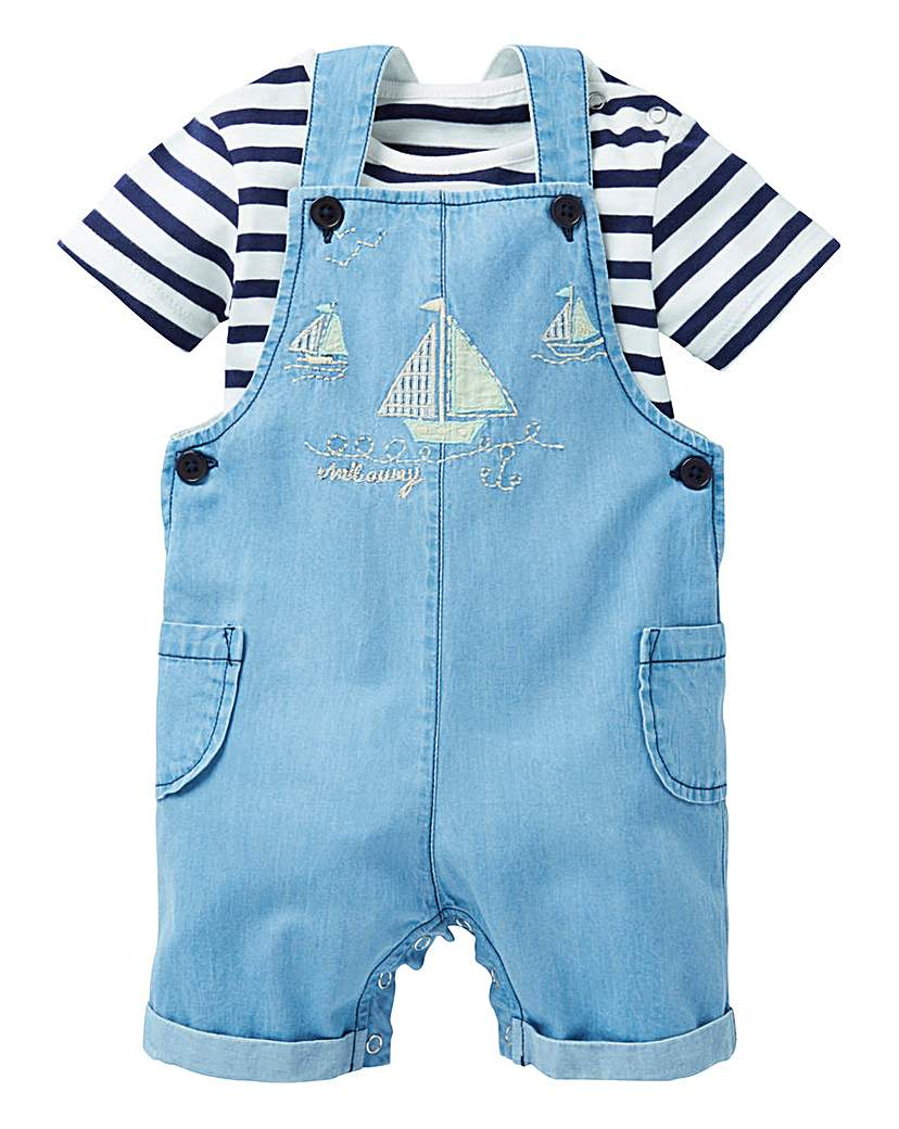 Image of KD Baby Boy Sailor Dungareee and T-Shirt