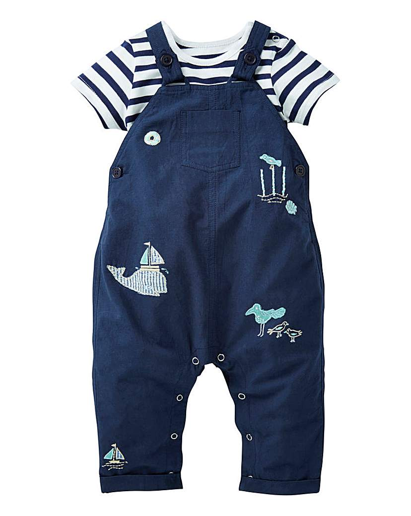 Image of KD Baby Boy Nautical Dungaree and T-Shir