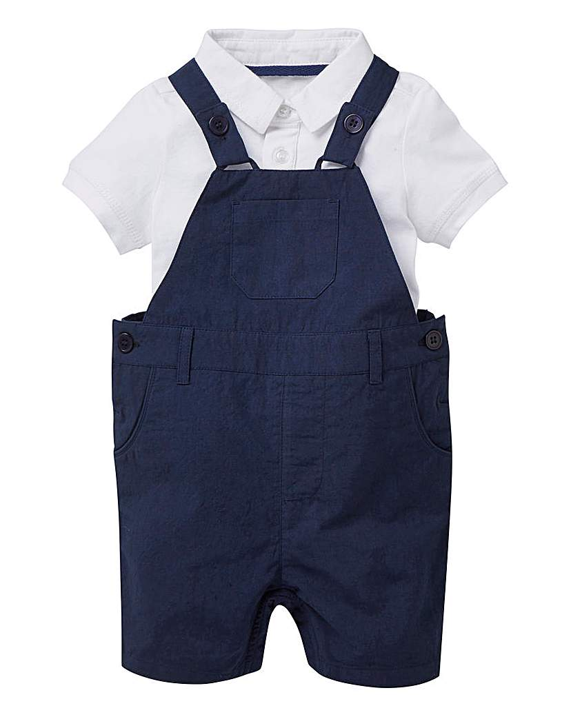 Image of KD Baby Boy Polo and Dungaree Set