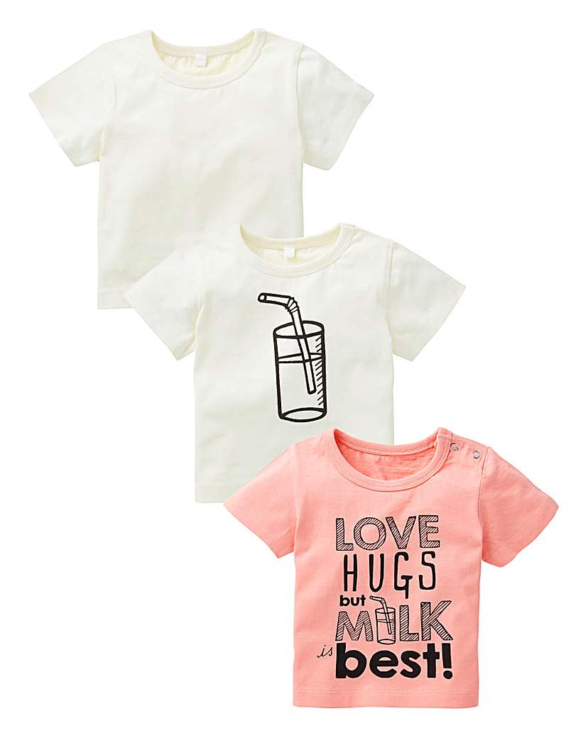 Image of KD Baby Girl Pack of Three T-Shirts