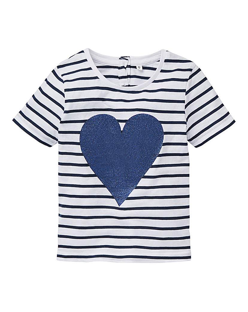 Product photo of Kd girls sequin heart tshirt