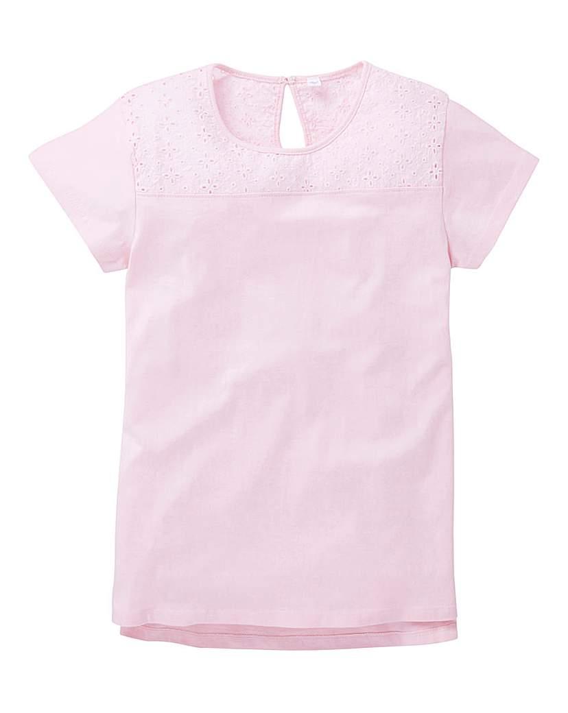 KD Girls Crochet Trim T-Shirt