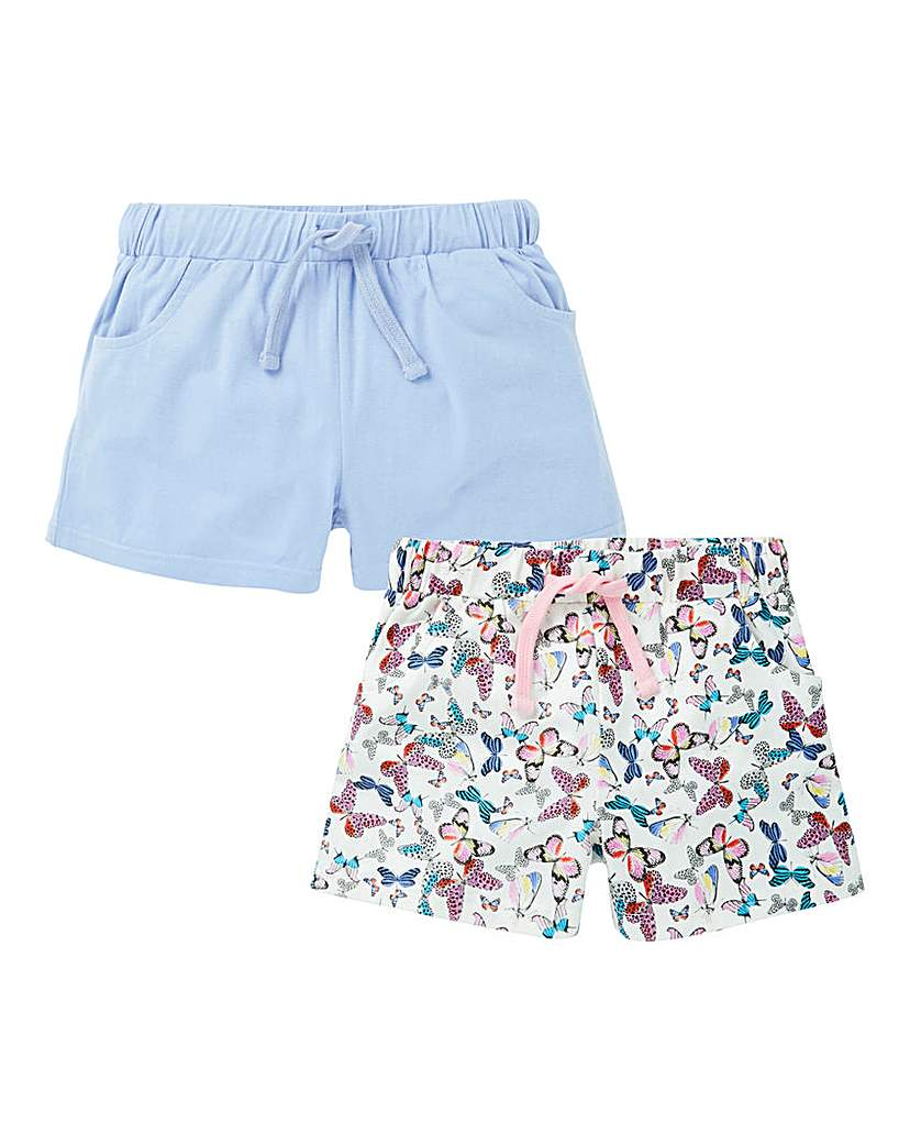 KD Girls Pack of Two Butterfly Shorts