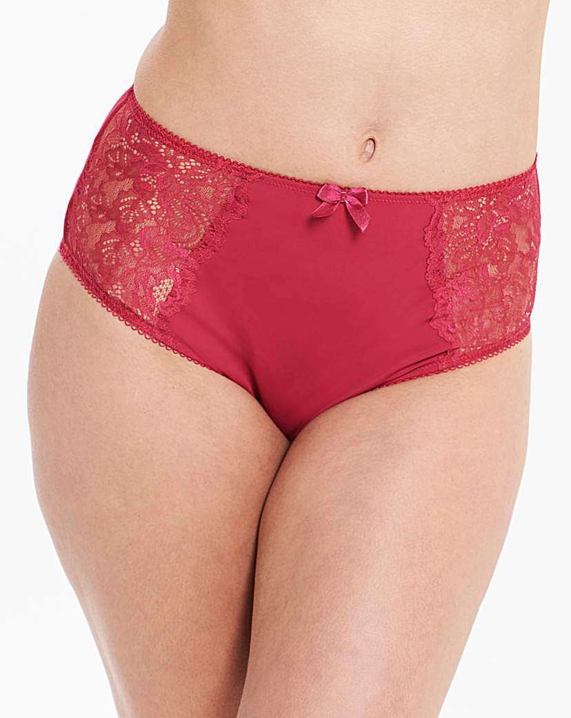 2 Pack Ella Lace Berry/Ivory Briefs