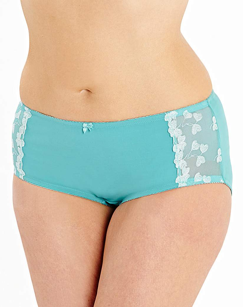 Image of Ava Embroidered Teal Shorts