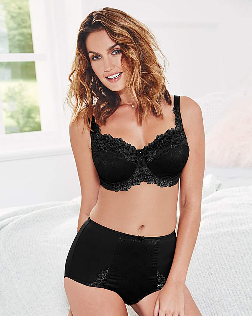 Ruby Full Cup Wired Black Bra