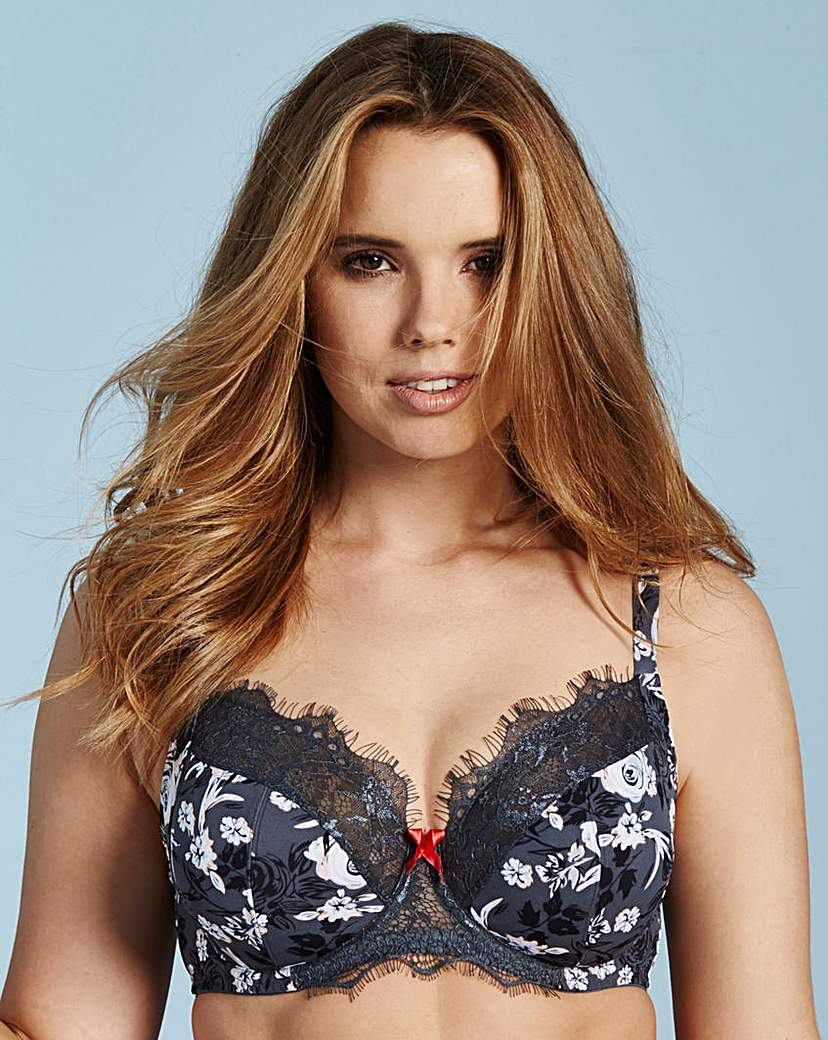 2 Pack Full Cup Wired Print/Black Bras
