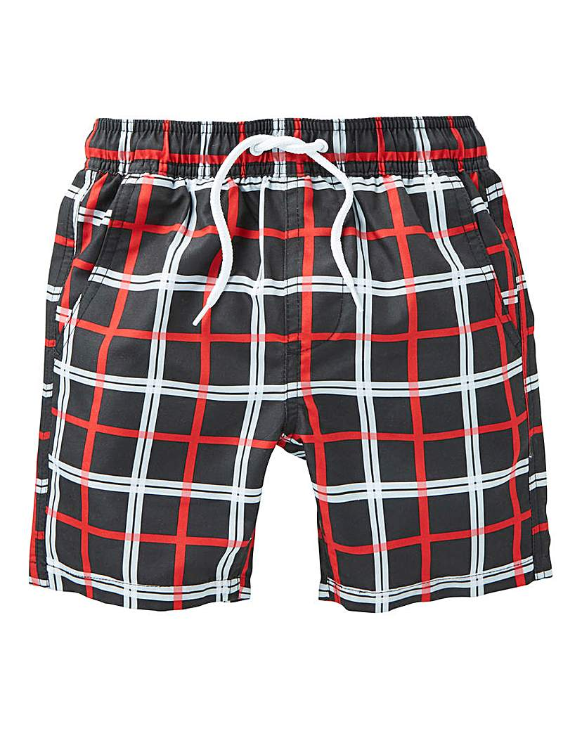 Image of KD Boys Check Swim Shorts