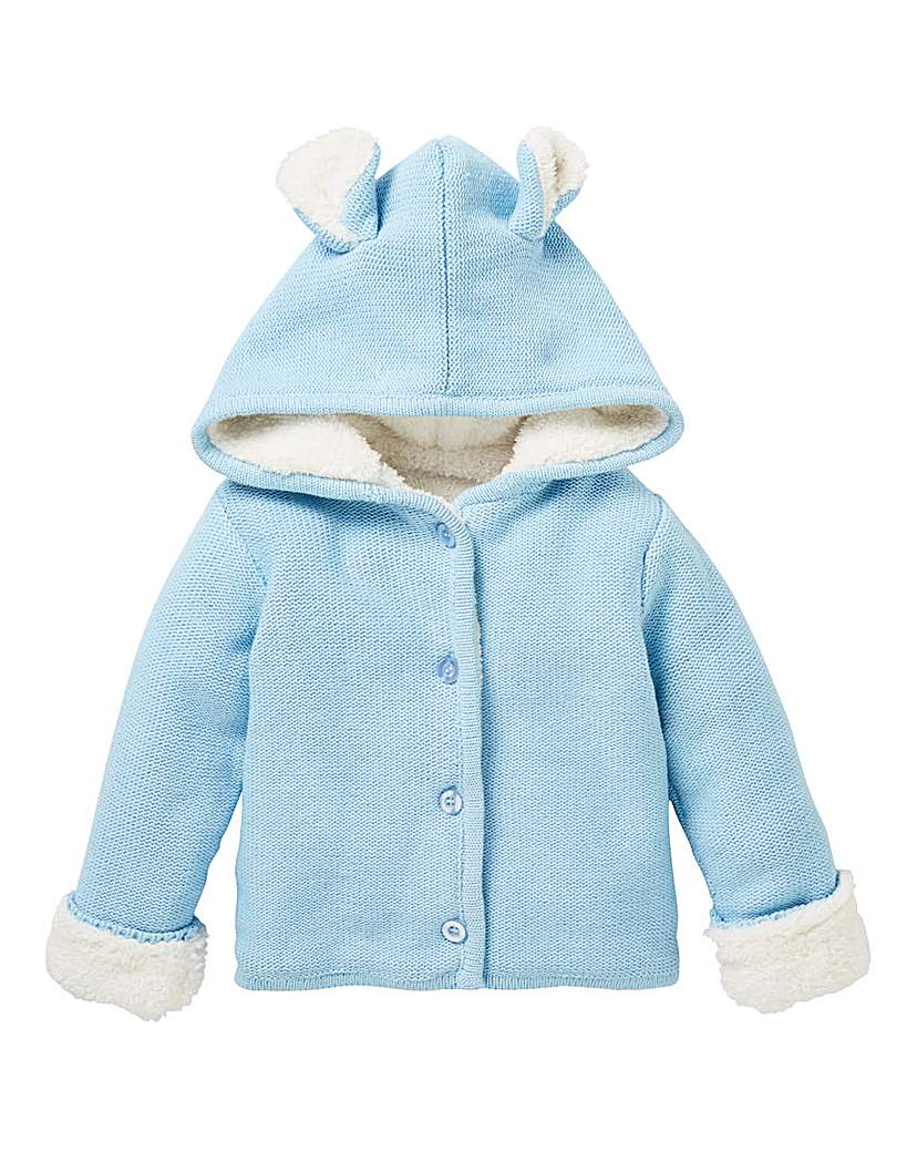 KD Baby Fleece Lined Cardigan.