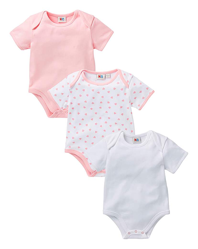Image of KD Baby Pack Of Three Bodysuits