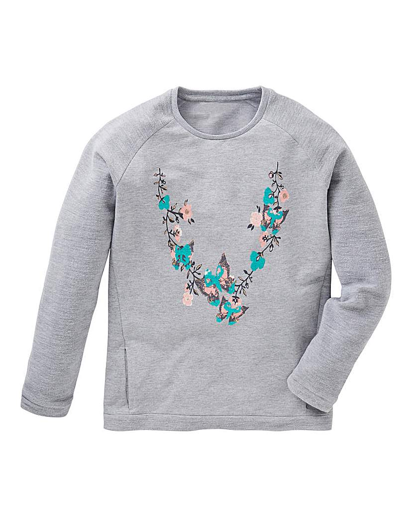 KD Girls Printed Sweatshirt