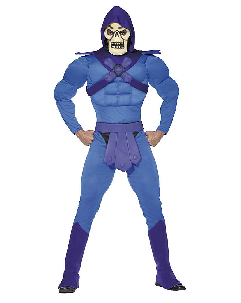 Image of Adult 1980's He-Man Skeletor Costume