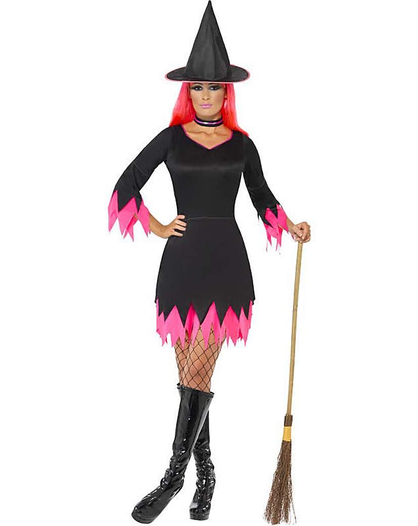 Halloween Black/Pink Witch Costume