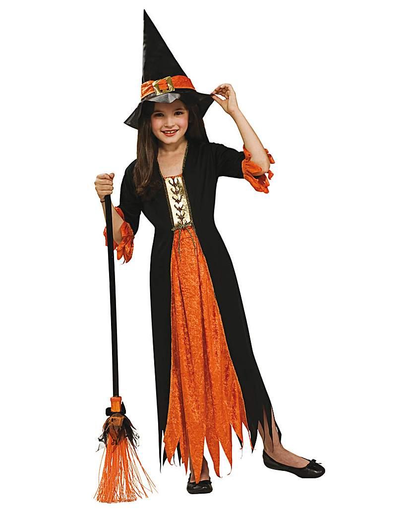 Girls Gothic Witch Costume