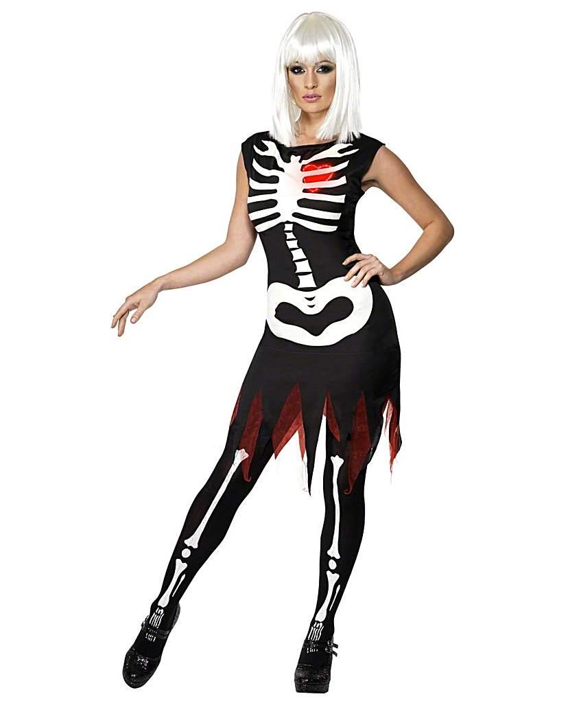 Ladies Bright Bones Skeleton Costume