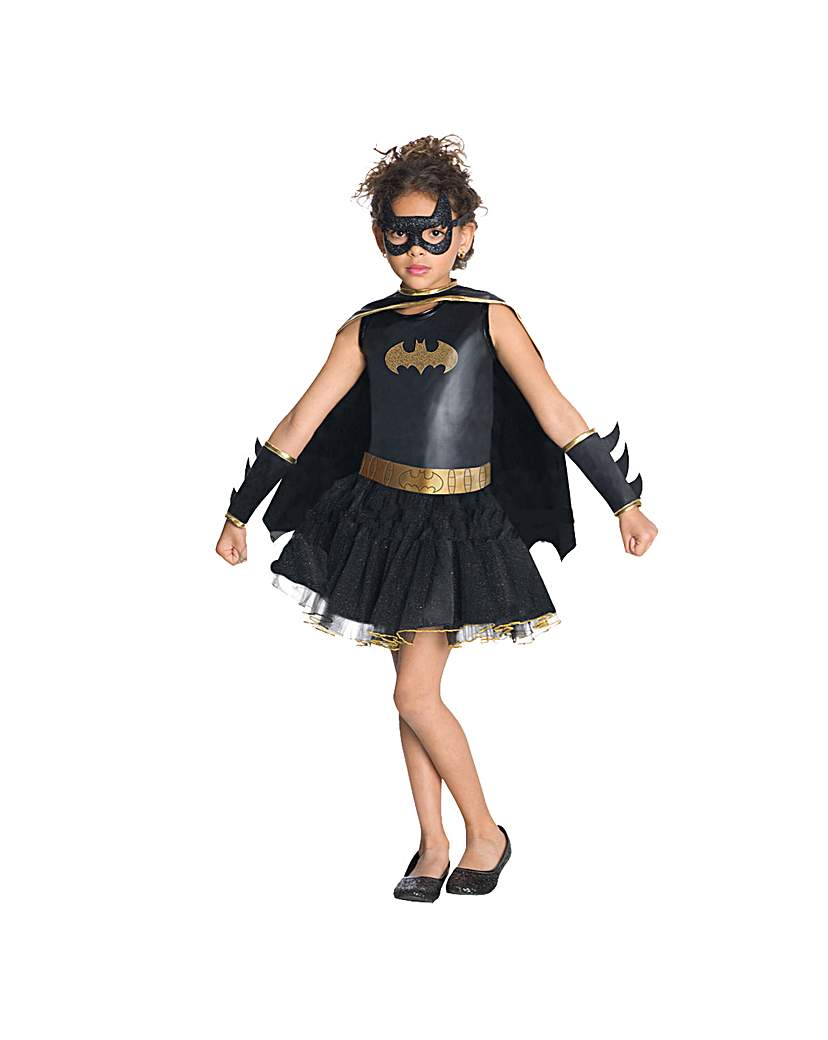 Girls Batgirl Tutu Dress Costume