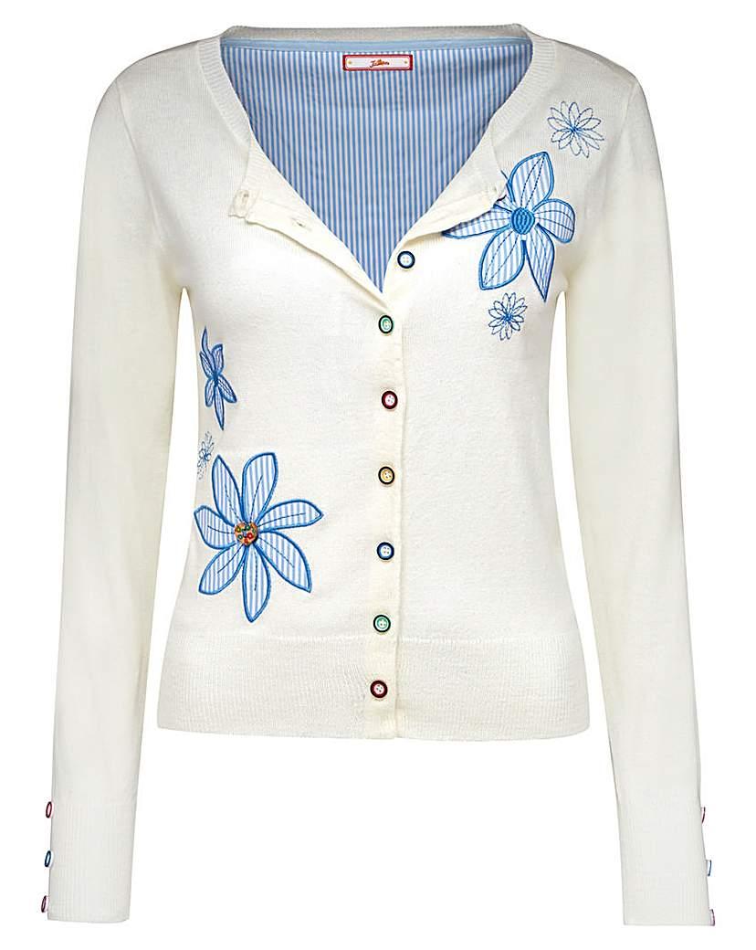 Retro Vintage Sweaters Joe Browns Amazing Applique Cardi £45.00 AT vintagedancer.com