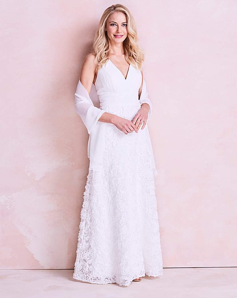 Image of Gina Bacconi Chiffon Wedding Dress