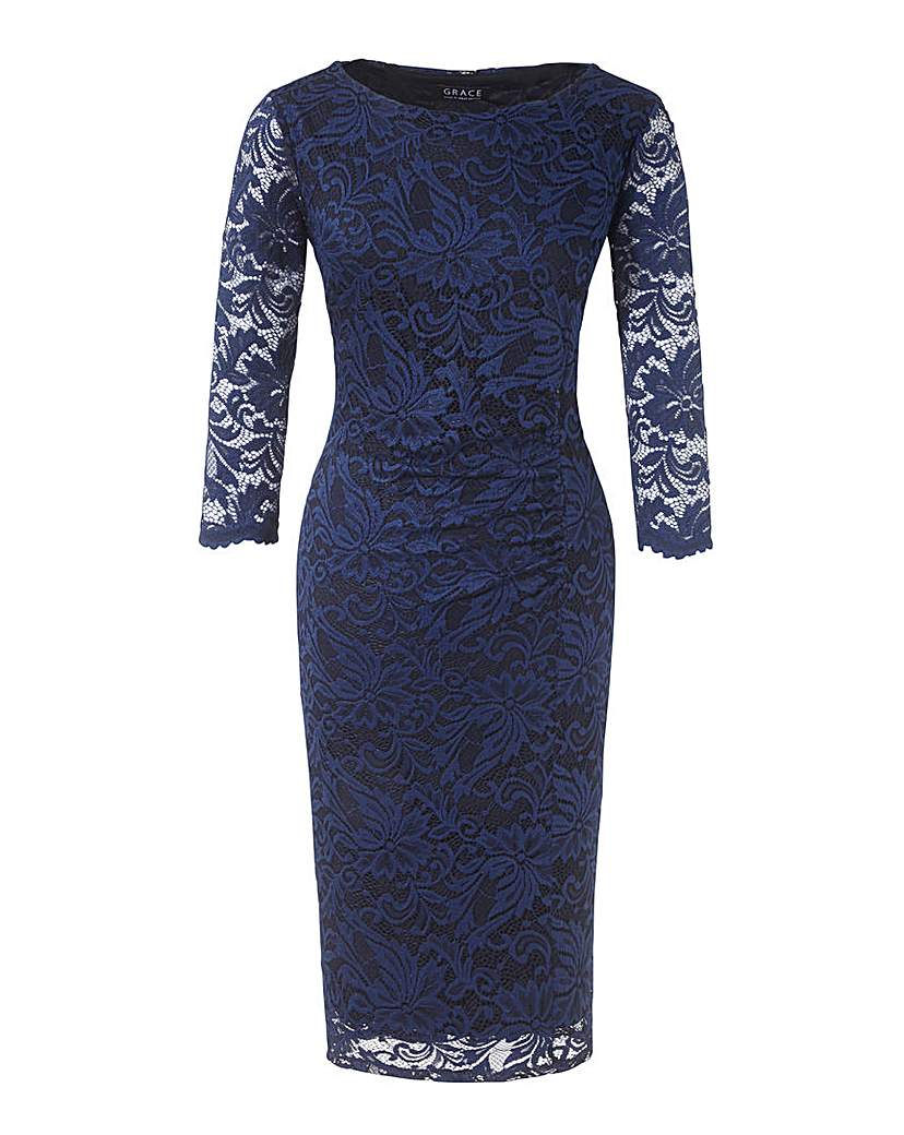 Grace Lace Midi Dress