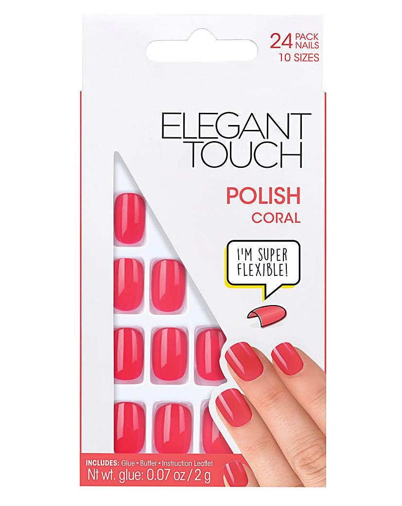 Image of Elegant Touch Polished Core Nail Coral