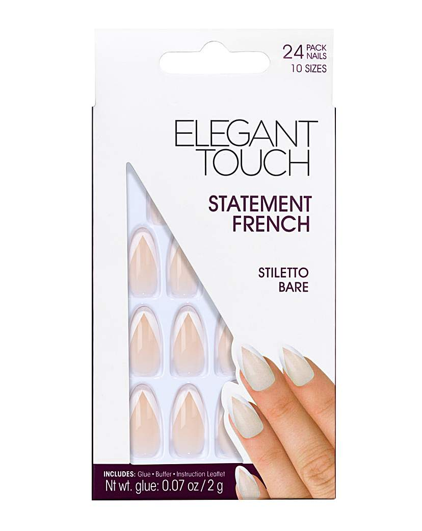 Image of Elegant Touch French Nail Stiletto Bare