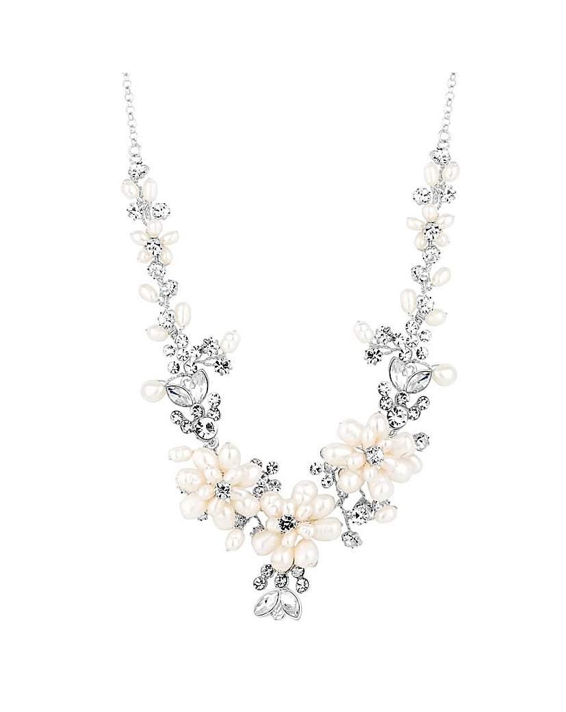 Alan Hannah pearl blossom wrap necklace