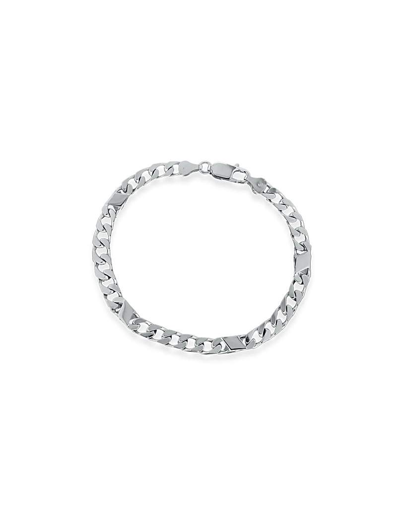 Image of Sterling Silver 4 Bar And Curb Bracelet