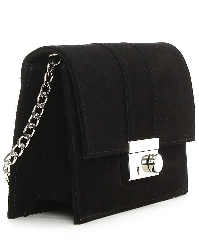 Daniel Ahand Black Suede Lock Bag