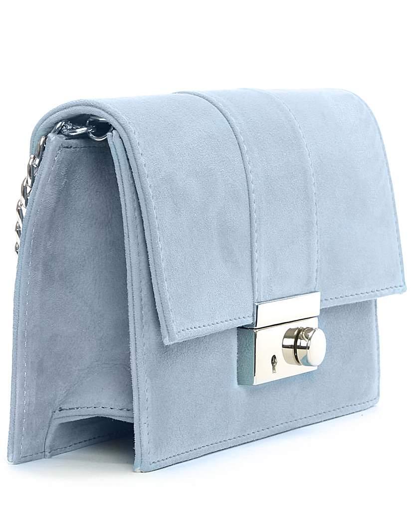 Daniel Ahand Blue Suede Lock Bag