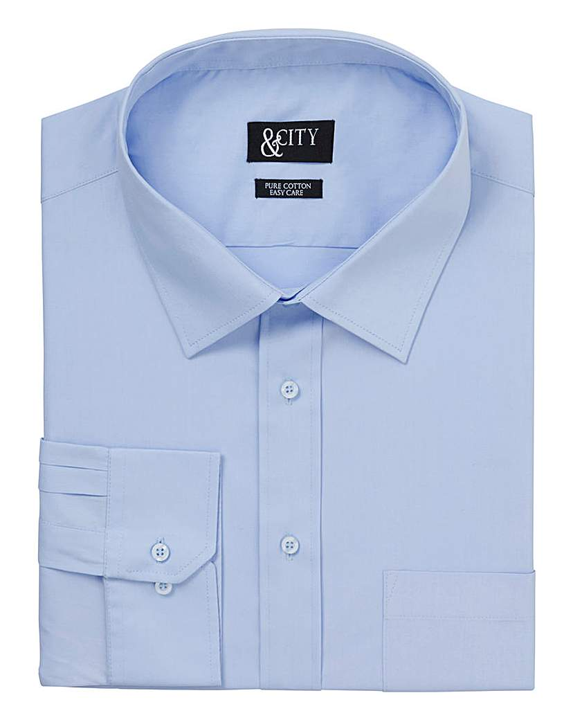 Image of &City Mighty 100% Cotton Easy Care Shirt