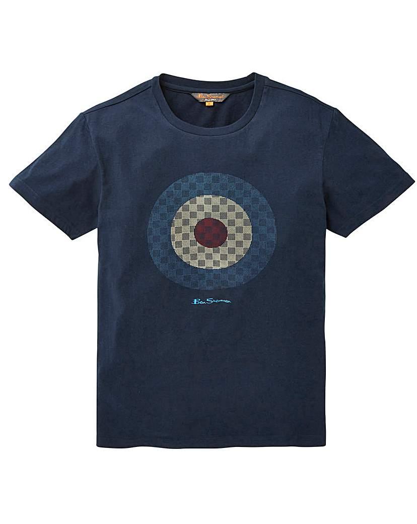 Image of Ben Sherman Checked Target T-Shirt L