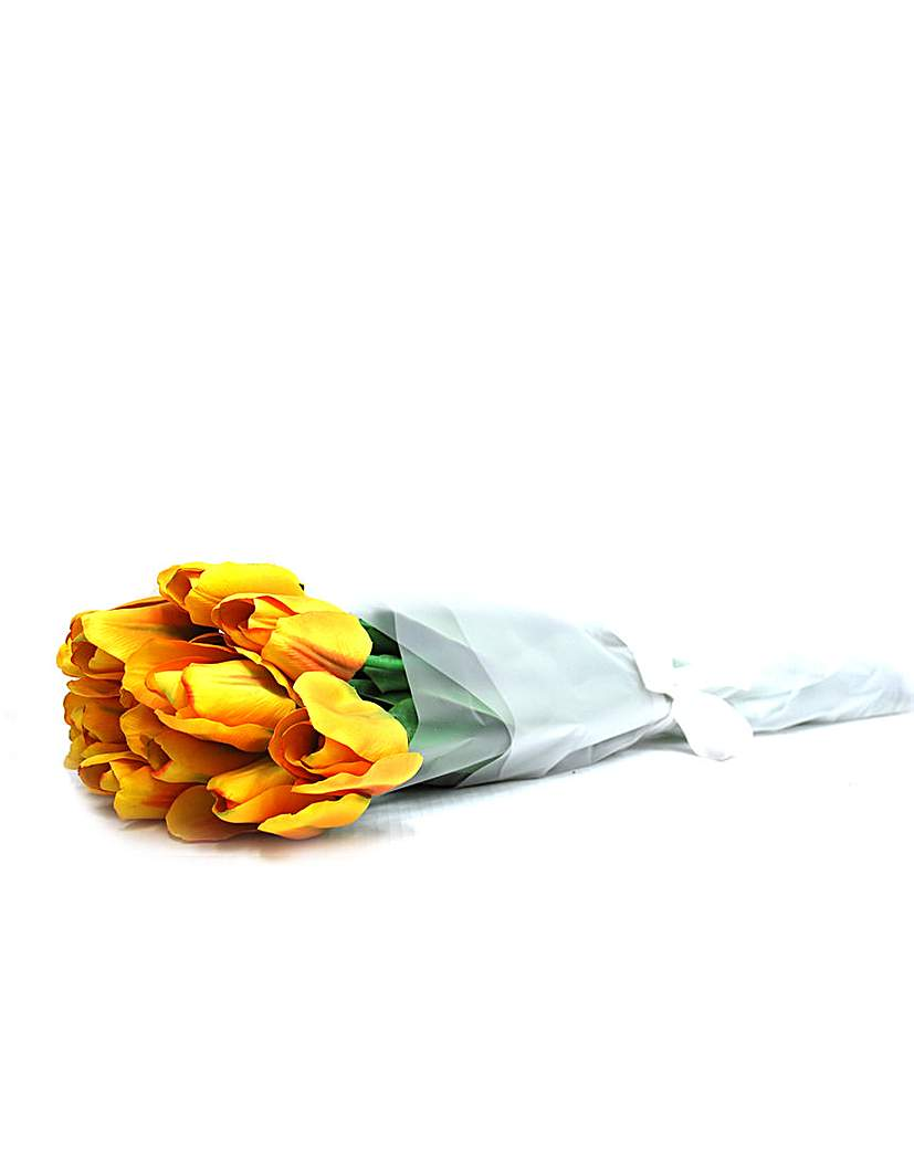 Artificial Stem Bouquet Yellow Tulip