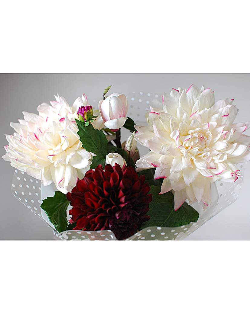 Artificial Stem Bouquet Dahlia