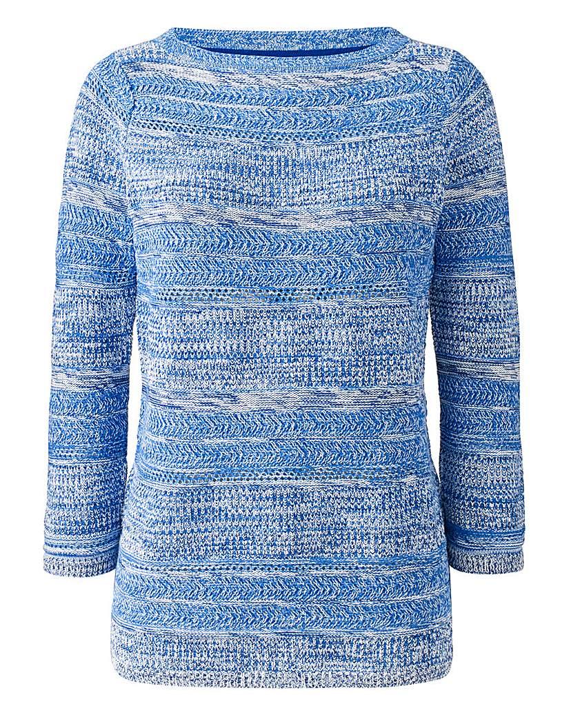 Stripe Cotton-Mix Sweater