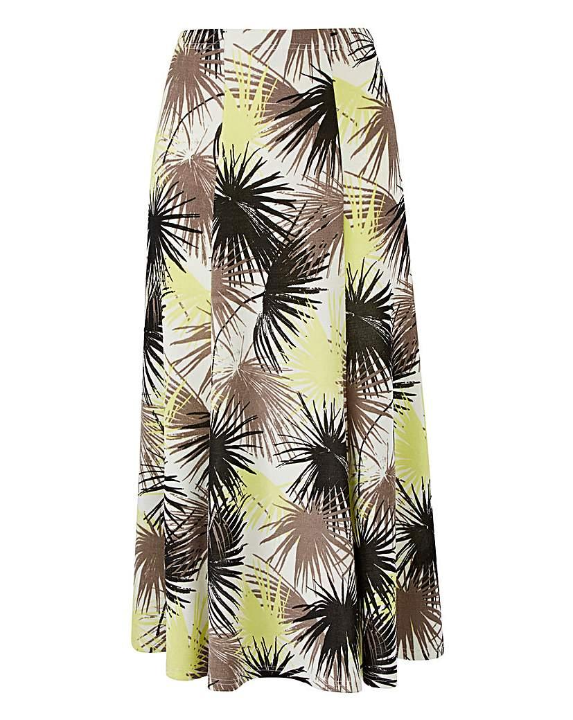 Print Slinky Skirt Length 29in