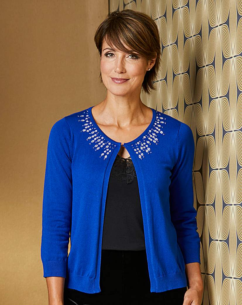 Jewel Trim Cardigan at House of Bath Catalogue