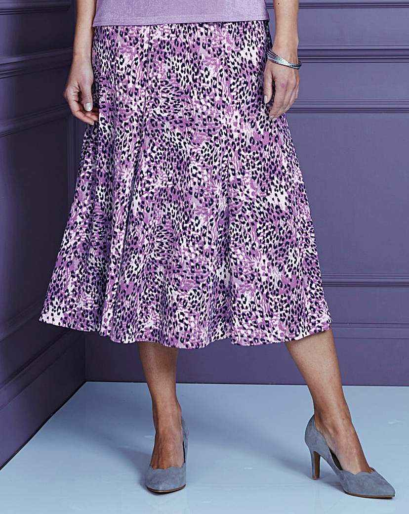 Print Slinky Skirt Length 29in.