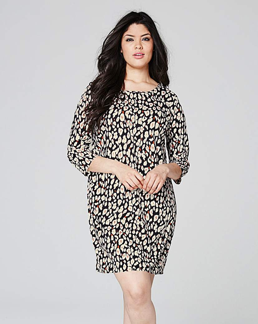 Animal Print Tunic Shift dress