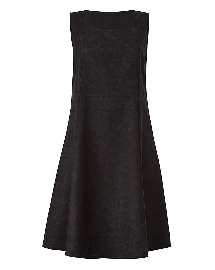 Black Linen Mix Dress