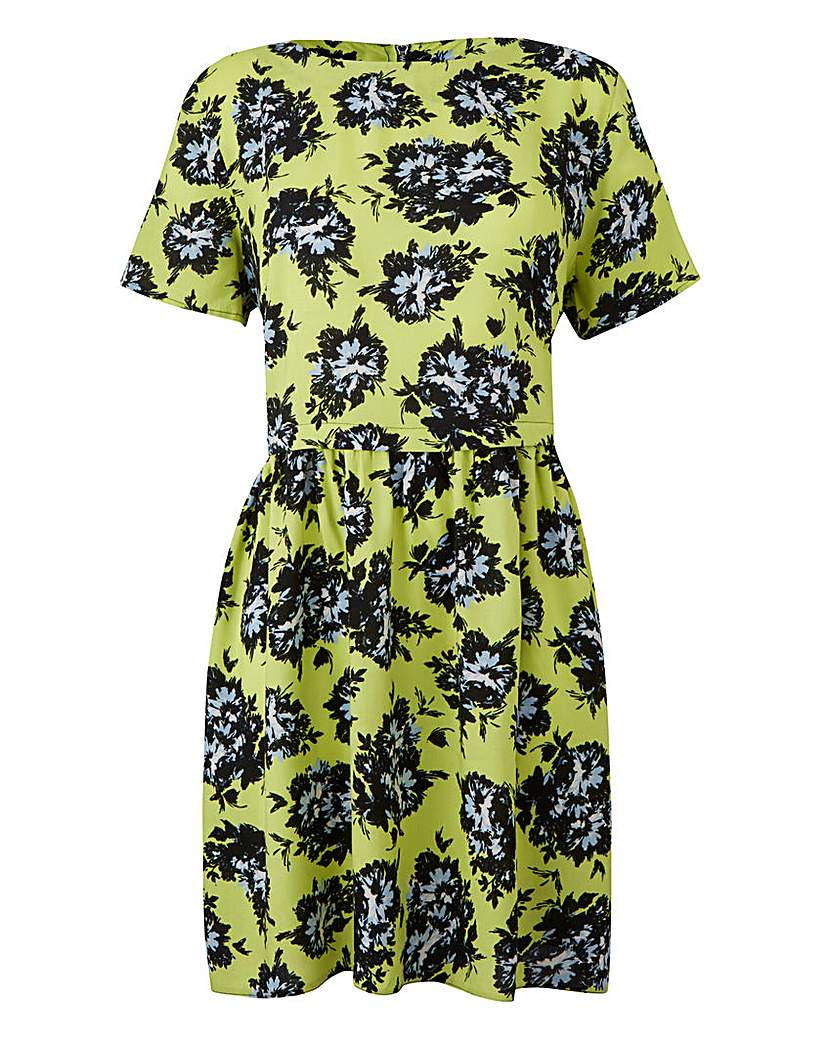 Product photo of Yellow print floral print dress