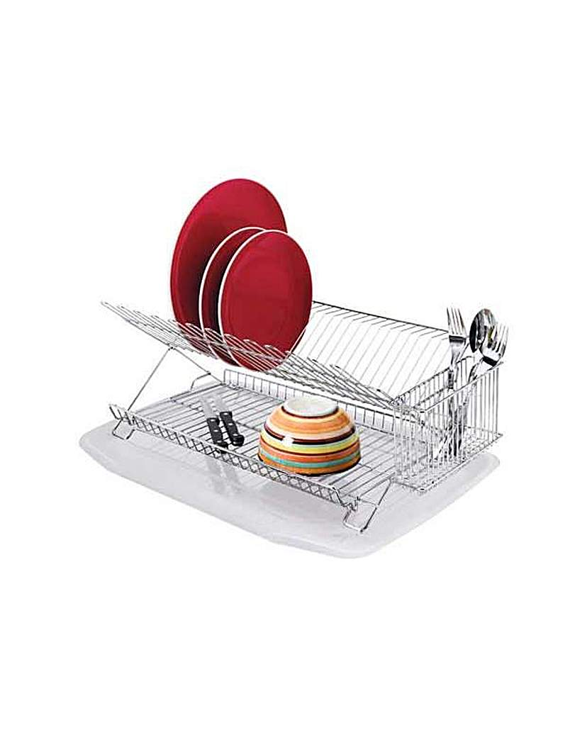 Dish Rack with Drainer - Chrome