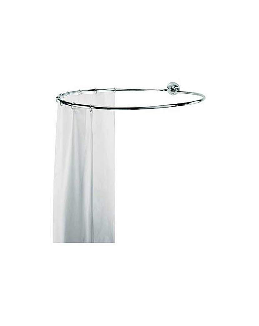Chrome Circular Shower Rail