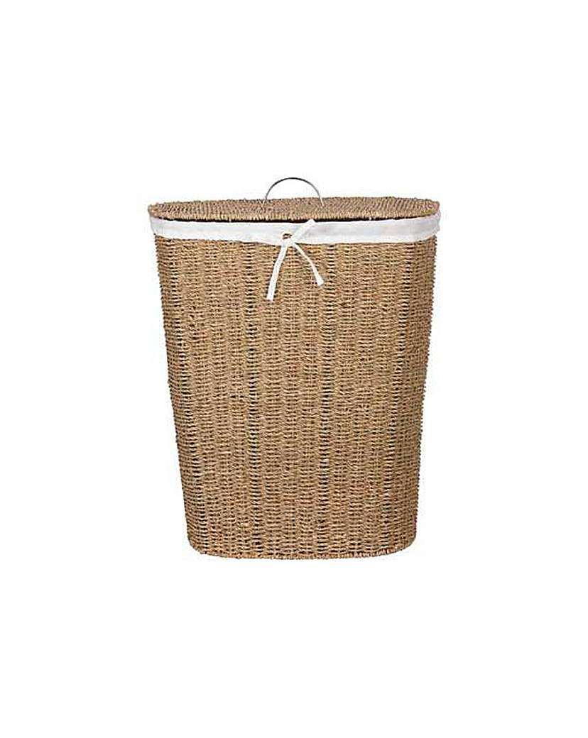 Laundry Basket - Natural Seagrass
