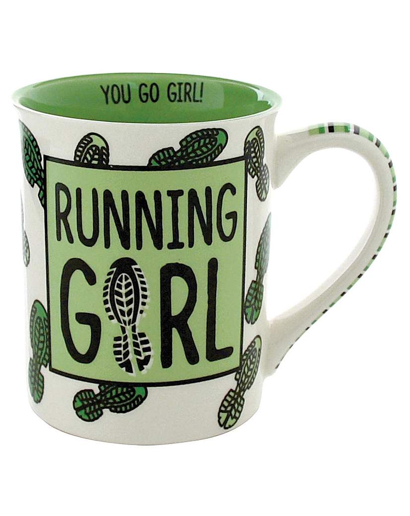 Image of Our Name is Mud Running Girl Mug